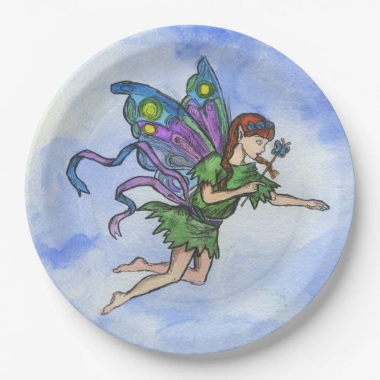"""""""Little Fairy"""", Paper Plates 9 in 9 Inch Paper Plate"""