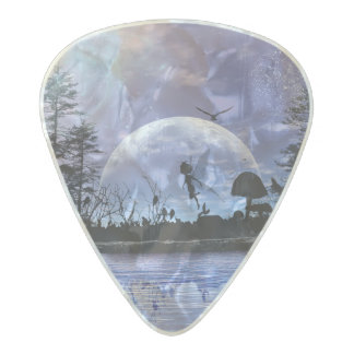 Little fairy pearl celluloid guitar pick