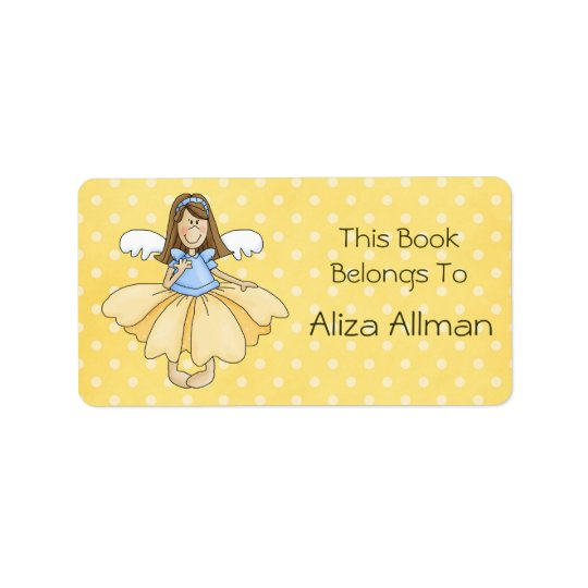 Little Fairy Princess Bookplate Label
