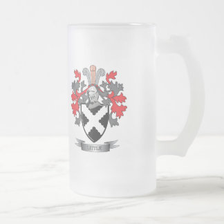 Little Family Crest Coat of Arms Frosted Glass Beer Mug