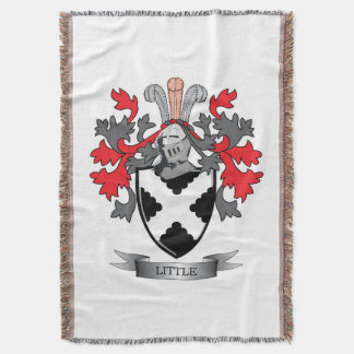 Little Family Crest Coat of Arms Throw Blanket