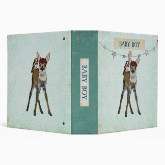 Little Fawn & Owl Baby Boy Book 3 Ring Binders