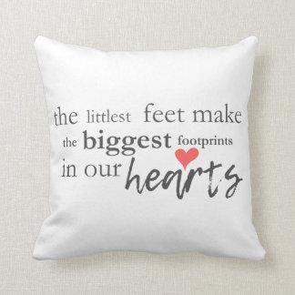 Little Feet Biggest Footprint Nursery Baby Pillow