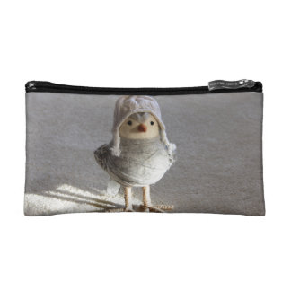 Little Felt Birdie with Hat Makeup Bag