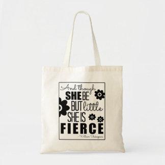 Little & Fierce - Black & White Tote Bag