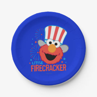 Little Firecracker Elmo Paper Plate