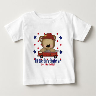 Little Firefighter Just Like Daddy Baby T-Shirt