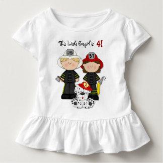 Little Firegirl Birthday - Customize Toddler T-shirt
