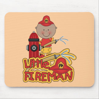 Little Fireman African American T-shirts and Gifts Mouse Pad
