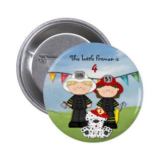 Little Fireman Birthday - Customize 2 Inch Round Button