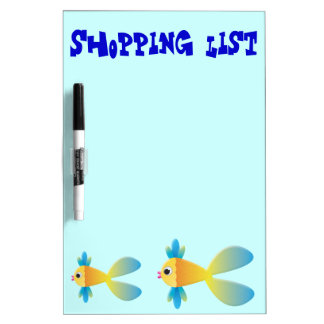 Little Fishy Cartoon Dry Erase Board