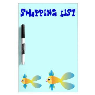 Little Fishy Cartoon Dry Erase Whiteboard
