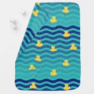 Little Floating Yellow Ducks Baby Blanket