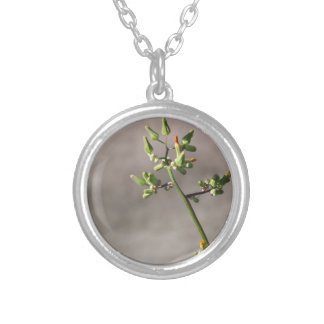 Little Flower Buds Silver Plated Necklace