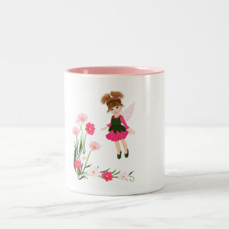 Little Flower Fairy Two-Tone Coffee Mug
