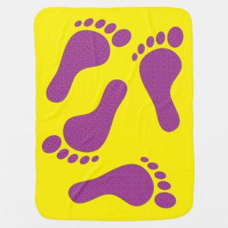 Little Flower Footprints Swaddle Blankets