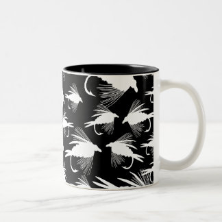 Little Fly Fishing Lures Two-Tone Coffee Mug