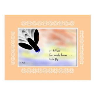 Little Fly Haiku Art Collectible Postcard