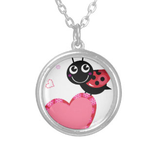 Little flying Red bee : KIDS DESIGN Silver Plated Necklace