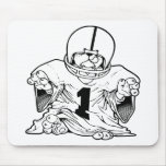 Little Football Dude Mouse Pad