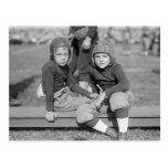 Little Football Players, 1925 Postcard