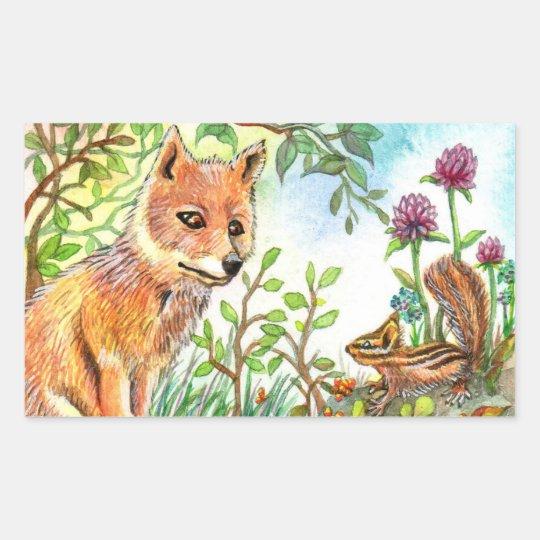 Little Fox And Chipmunk
