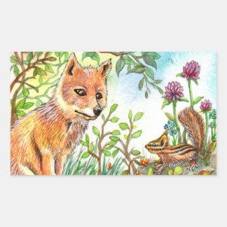 Little Fox And Chipmunk Sticker