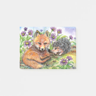 Little Fox And Hedgehog Post-it Notes