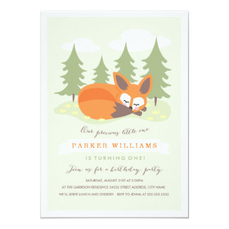 Little Fox Birthday Party Invitation
