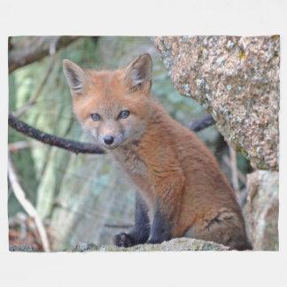 LITTLE FOX FLEECE BLANKET