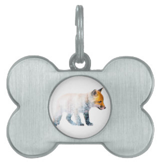 Little fox pet ID tag