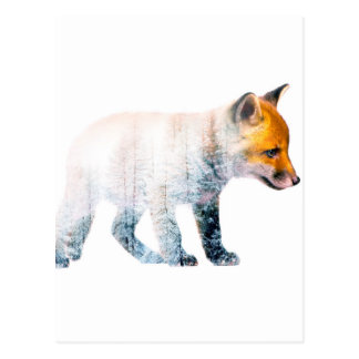 Little fox postcard