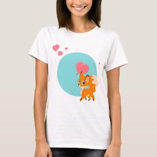 Little Fox with a Balloon T-Shirt