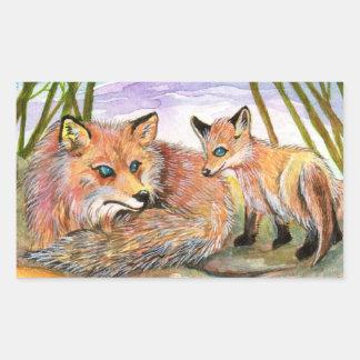 Little Fox's Nap Time Sticker