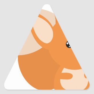Little Foxy Poo Triangle Stickers