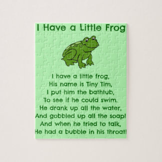 Little Frog Poem Jigsaw Puzzle