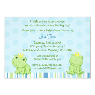 Frog Baby Shower Invitations Announcements Zazzle Canada