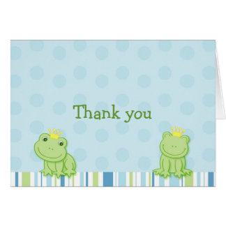 Little Frog Prince Thank You Note Cards