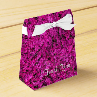 Little Fuschia Flowers Tent Favor Box