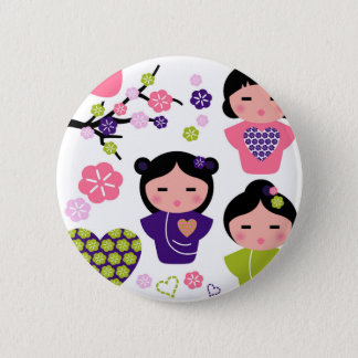 Little Geisha artistic T-Shirts and products 2 Inch Round Button