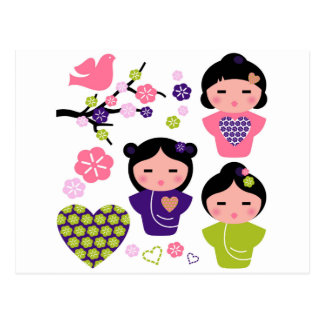 Little Geisha artistic T-Shirts and products Postcard