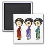 Little Geishas Refrigerator Magnets