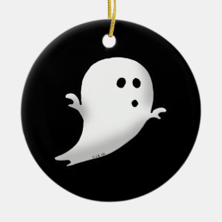 Little ghost ceramic ornament
