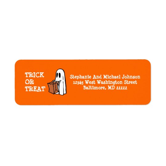 Little Ghost Trick or Treat Halloween Candy bag