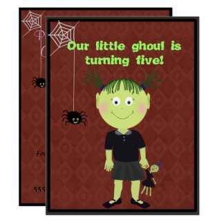 Little Ghoul Party Invitation