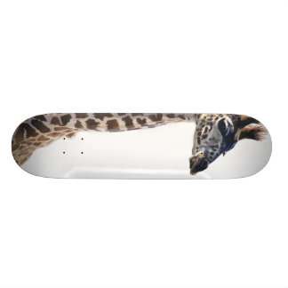 """Little Giraffe"" Wildlife Animal Watercolor Skate Board Decks"