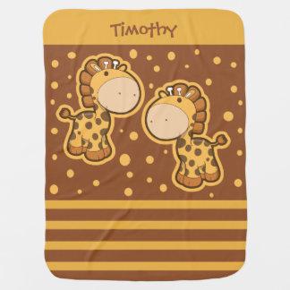 Little Giraffes Baby Blanket