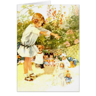 Little Girl and Her Dolly's Wedding, Card