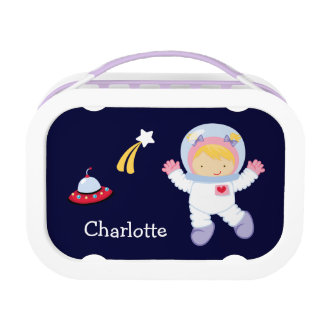 Little Girl Astronaut Lunch Box