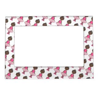 Little Girl Ballerina Ballet Dancer Pink Rose Tutu Magnetic Picture Frame